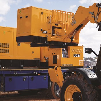 Scot JCB Power Generator Being loaded onto a truck